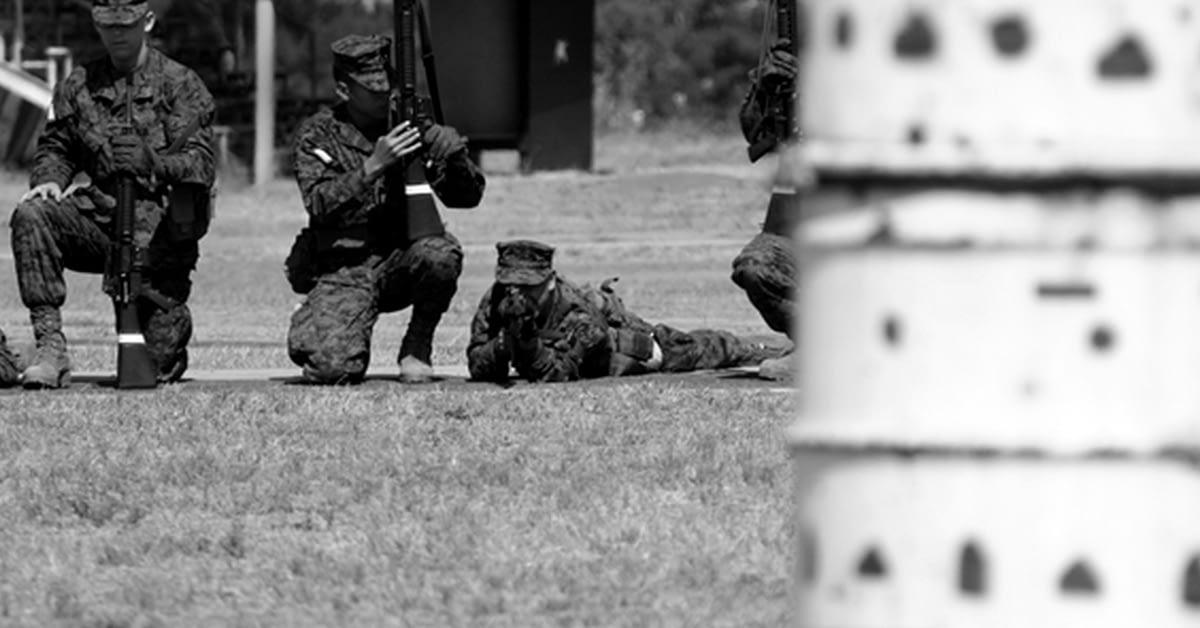 Marines at snap in barrel